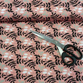 Bild Jersey Stoff mit Blättern