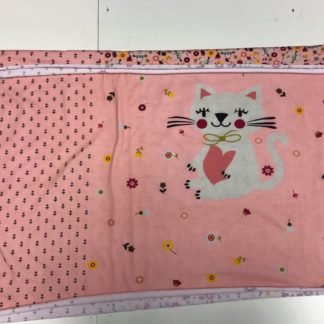 Bild Jersey Stoff Panel rosa mit süßer Katze
