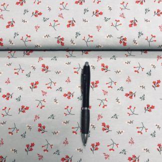 Bild Jersey Stoff mit zarten Blumen