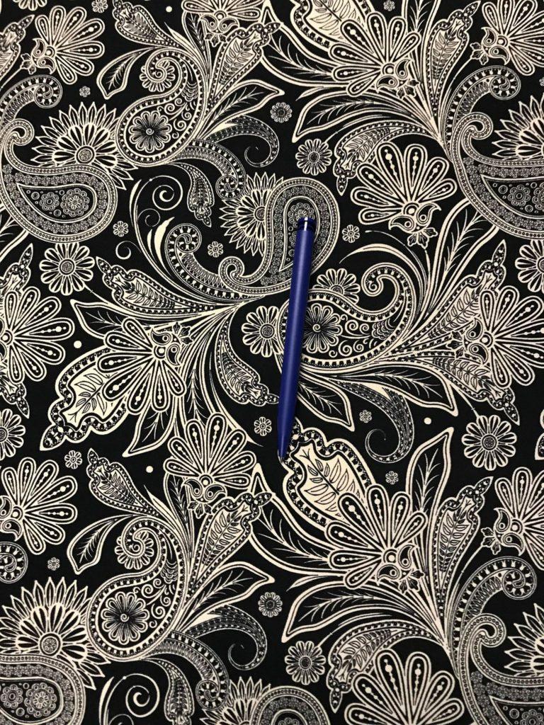 Paisley Muster Stoff : jersey paisleymuster schwarz wei ~ Watch28wear.com Haus und Dekorationen