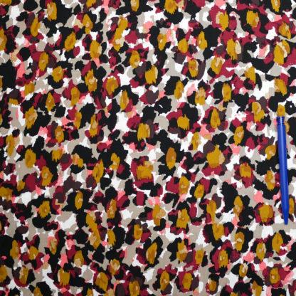 Bild Viskose Farbtupfer schwarz, gelb, rot, weiß, grau