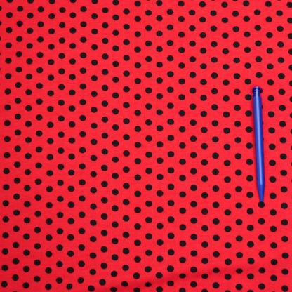 Bild Jersey Punkte schwarz auf rot