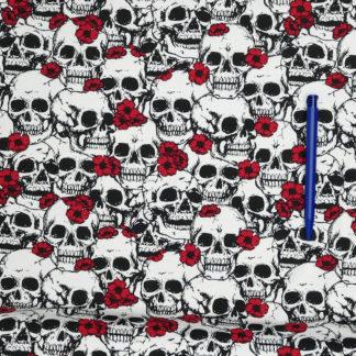 Bild Totenkopf mit Blumen