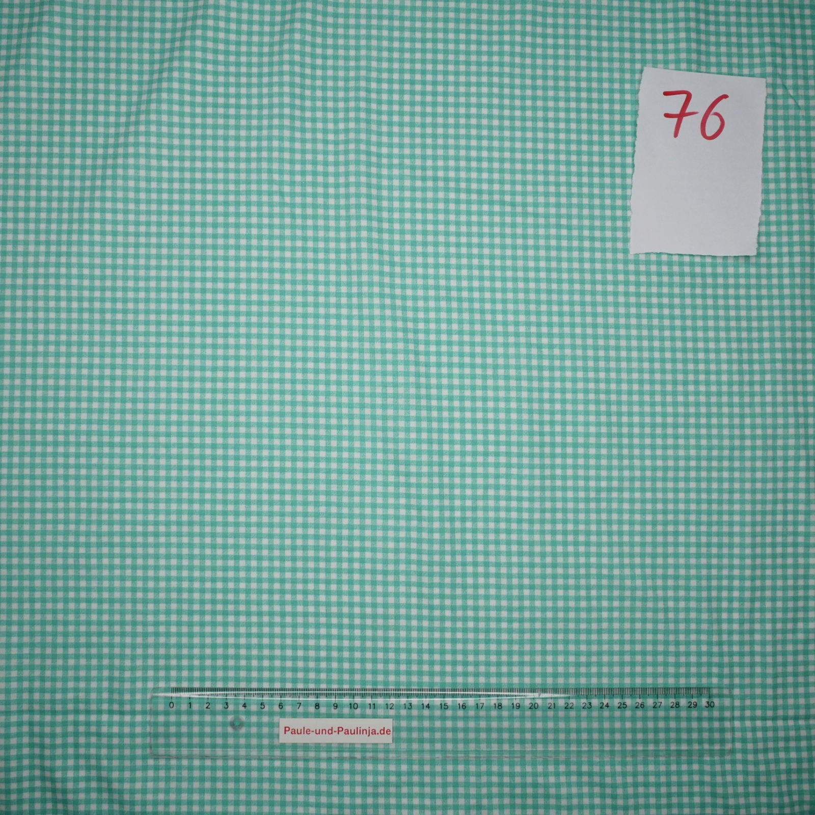 0b2f52e70eec Baumwolle Stretch Jersey, dünn, blaugrün weiß kariert - OV076
