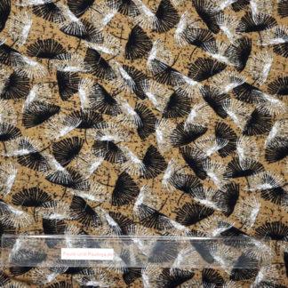 Bild Gingko Blätter in weiß und schwarz auf ocker