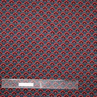 Bild Viskose Polyester mit abstraktem Blütenmuster