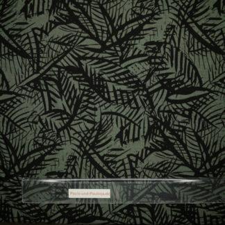Bild Viskose Jersey in der Farbe dunkelgrün mit Streifen