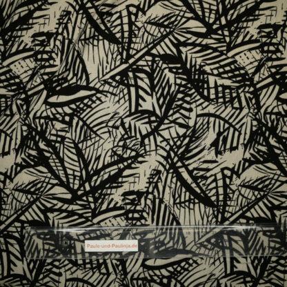 Bild Viskose Jersey in der Farbe capuccino mit Strichmotiv