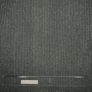 Bild Bündchen Stoff heavy rib in dunkelgrau mit silbernen Glitzerstreifen
