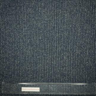 Bild Heavy Rib Bündchenstoff in dunkelblau mit silbernen Streifen