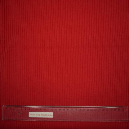 Bild Heavy Rib Bündchenstoff in der Farbe rot