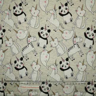 Bild Jersey Panda, Zebra, Wal, Katze mit Glitzerhorn