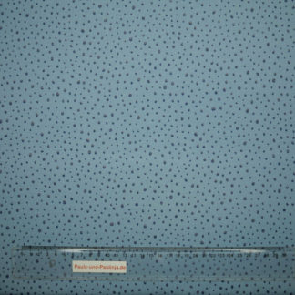 Bild Modal Jersey mit Glitzer Dots in silber auf hellblau