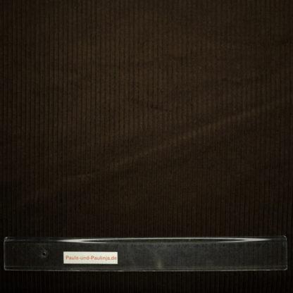 Bild Breitcord Stoff in dunkelbraun