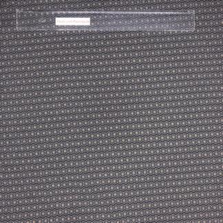 Bild Baumwolljersey Stoff in der Farbe schwarz mit grauem Sterngitter und Goldglitzerpunkten