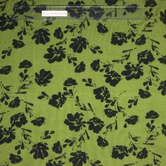 Bild Modal Jersey in der Farbe bambusgrün mit schwarzen Blüten