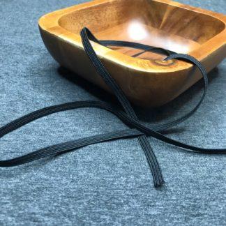 Gummi Gummiband schwarz 4 mm