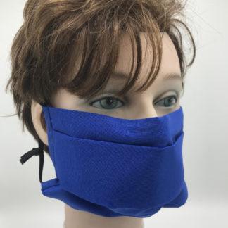 Bild Gesichtsmaske Baumwolle dunkelblau mit schwarzer Gummilitze