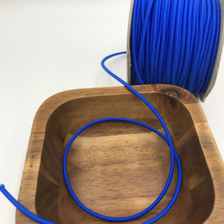 Bild 3mm Gummikordel blau