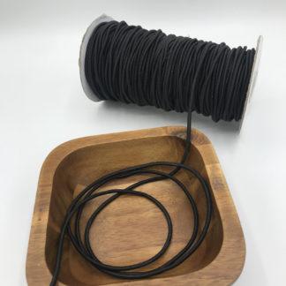 Bild 3mm Gummikordel schwarz