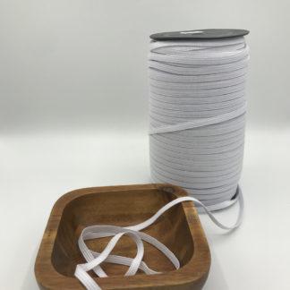 Bild Gummilitze, Gummiband, 6mm breit, weiß