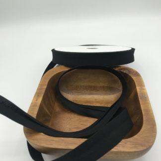 Bild Schrägband, Einfassband in schwarz, 18mm, Baumwolle