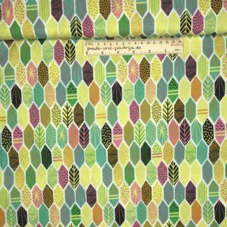 Bild Muster, Blätter, bunt, Punkte, Striche