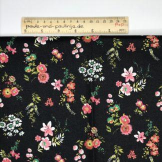 Bild Streublümen, beschichtete Baumwolle mit bunten Blumen