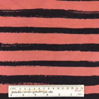 Bild Sommer Sweat, French Terry, Jersey, stretch, dehnbar, weich, gestreift, Streifen, braun, rot