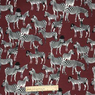 Bild Alpenfleece, Fleece, dicker Stoff, warm, kuschelig, weinrot, Zebra, cool