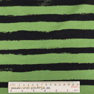 Bild Sommer Sweat, French Terry, Jersey, stretch, dehnbar, weich, gestreift, Streifen, braun, grün