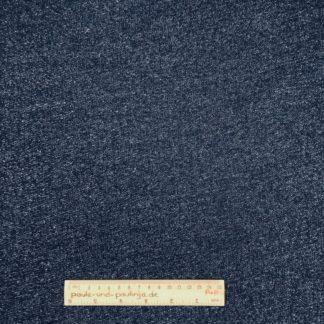 Bild Sommer Sweat, French Terry, Jersey, stretch, dehnbar, weich, meliert, dunkelblau, jeansblau, weiß