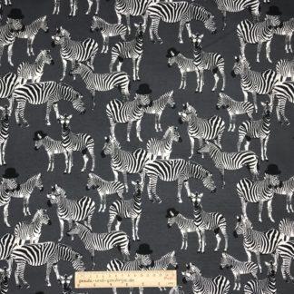 Bild Alpenfleece, Fleece, dicker Stoff, warm, kuschelig, grau, Zebra, cool