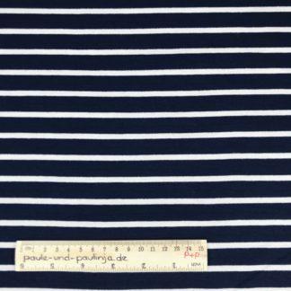 Bild Sommer Sweat, French Terry, Jersey, stretch, dehnbar, weich, maritim, blau, dunkelblau, weiß, gestreift, Streifen