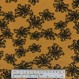 Bild Baumwolljersey, Jersey, stretch, dehnbar, Jerseystoffe, Stoffe, Blumen, Pusteblumen, Muster, Motiv