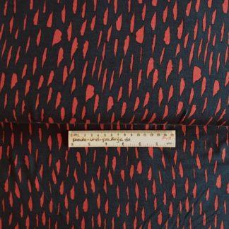 Bild Tencel Modal, Jersey, dunkelblau, rot, weinrot, Flecken, Tupfer, Wolken, dehnbar, stretch