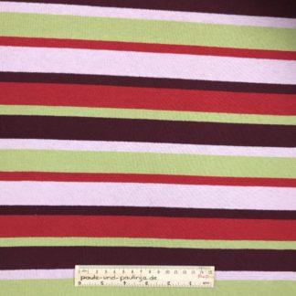 Bild Strick, Strickstoff, stretch, dehnbar, stretch, Pullistoff, gestreift, Streifen, grün, weinrot, weiß, rot