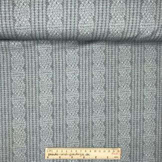 Bild Baumwolljersey, Jersey, stretch, dehnbar, Jerseystoffe, Stoffe, Muster, Motiv, grau, geflochten, Zopfmuster