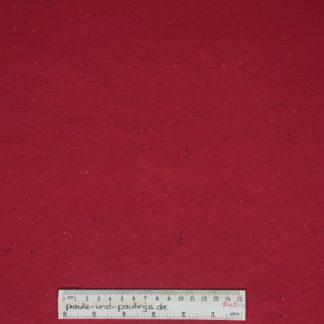 Bild Sweat, Wintersweat, warm, kuschelig, angeraut, Salz und Pfeffer, unregelmäßig gepunktet, costy colors, rot