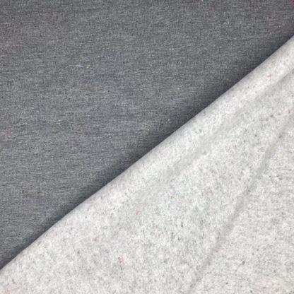 Bild Sweat, Wintersweat, warm, kuschelig, angeraut, Salz und Pfeffer, unregelmäßig gepunktet, costy colors, dunkelgrau, grau