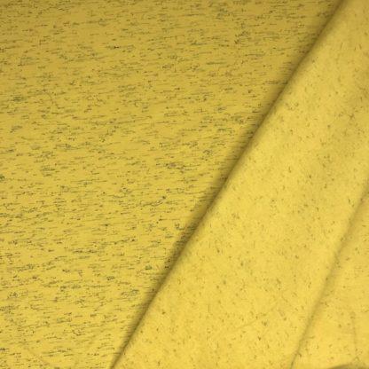 Bild Sweat, Wintersweat, warm, kuschelig, Winterstoff, Hoodystoff, unregelmäßig gestrichelt, schwarze Striche, ockergelb, senfgelb, gelb