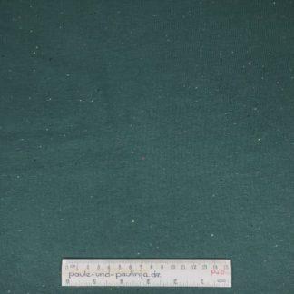 Bild Sweat, Wintersweat, warm, kuschelig, angeraut, Salz und Pfeffer, unregelmäßig gepunktet, costy colors, tannengrün, grün