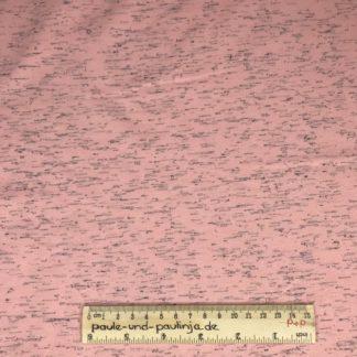 Bild Sweat, Wintersweat, warm, kuschelig, unregelmäßig gestrichelt, Streifen, schwarz, rosa