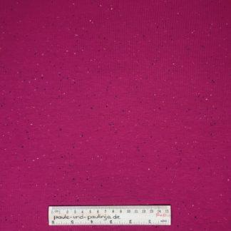 Bild Sweat, Wintersweat, warm, kuschelig, angeraut, Salz und Pfeffer, unregelmäßig gepunktet, costy colors, pink
