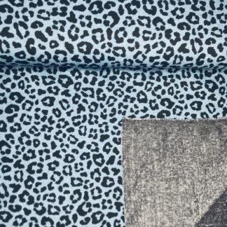 Bild Alpenfleece, Fleece, dicker Stoff, warm, kuschelig, grau, Leo, cool, blau, Muster