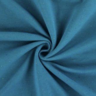 Bild Sweat, Wintersweat, warm, kuschelig, angeraut, Salz und Pfeffer, unregelmäßig gepunktet, costy colors, blau, petrol