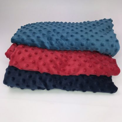 Bild Stoffe Minky Fleece Nähpaket XXL Tuch Polyester Minky Fleece in petrol in weinrot in dunkelblau