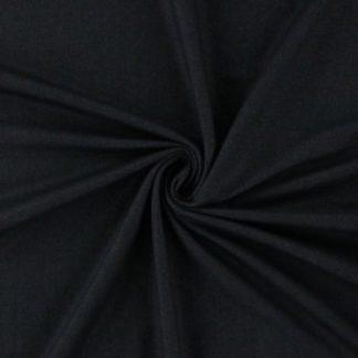 Bild Baumwolljersey, Jersey, stretch, dehnbar, bi-elastisch, Jerseystoffe, Stoffe, Rockstoff, schwarz, weißmeliert, Kleiderstoff, Hosenstoff, Jeggings, Jeansoptik, Jeanslook