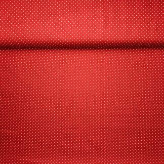 Bild Webware, Baumwolle, Popelin, Stoff für Kleid, Stoff für Rock, Stoff für Bluse, Stoff für Masken, Hobby, rot, weiße Punkte