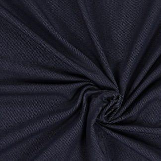 Bild Baumwolljersey, Jersey, stretch, dehnbar, bi-elastisch, Jerseystoffe, Stoffe, Rockstoff, dunkelblau, navyblau, blau, weißmeliert, Kleiderstoff, Hosenstoff, Jeggings, Jeansoptik, Jeanslook